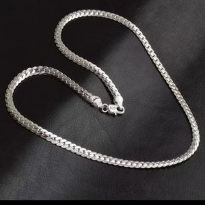 925 Sterling silver snake necklace